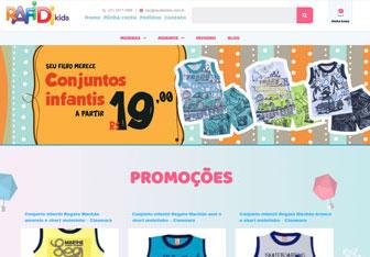 criação de loja virtual para venda de roupas infantis e bebes