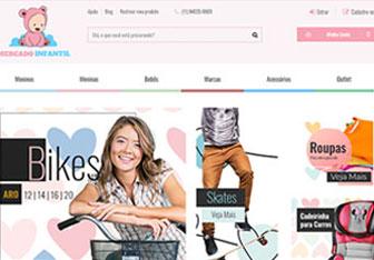 criação de loja virtual roupa de nenem e bebe